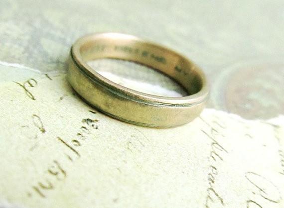 rustic band | handmade wedding rings | http://emmalinebride.com/jewelry/handmade-wedding-bands/