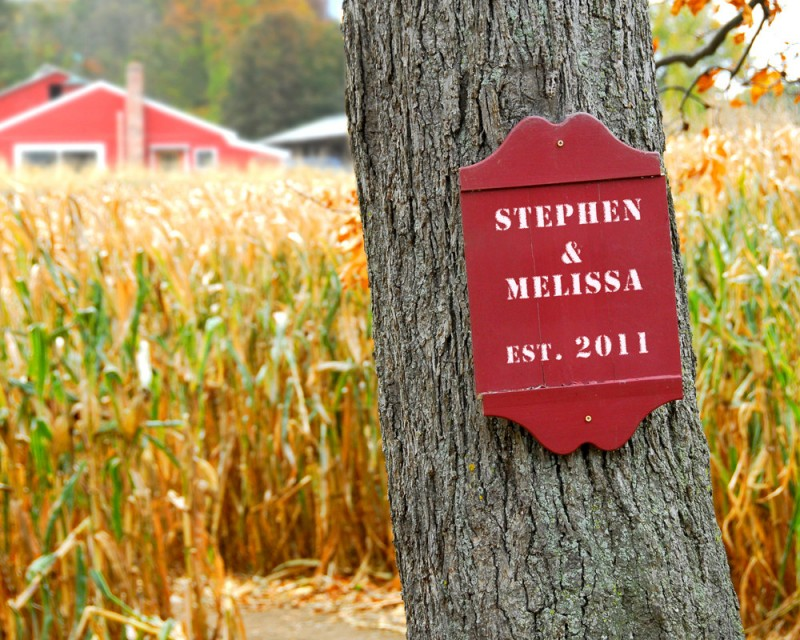 Personalized Print with Your Names on Rustic Farm Sign | by Picture It Personal | via http://emmalinebride.com/2015-giveaway/personalized-print-names/