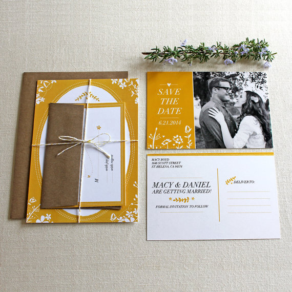 rustic folk wedding invitations