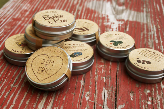 rustic lip balm favors by mountainess