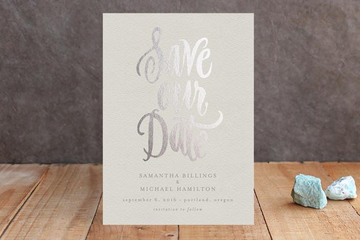 save our date real foil cards | Foil Pressed Save the Date Cards via emmalinebride.com