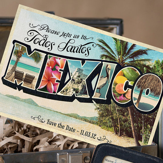 save the date mexico | vintage save the date postcards