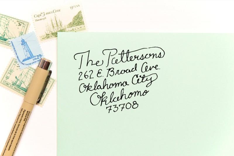 script | return address stamps etsy