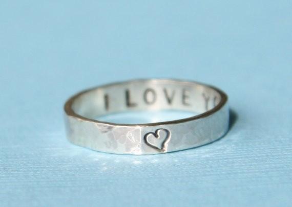 secret message ring | handmade wedding bands | http://emmalinebride.com/jewelry/handmade-wedding-bands/