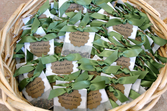 Wildflower Seed Favors for Weddings (by Mother + Daughter Creations)