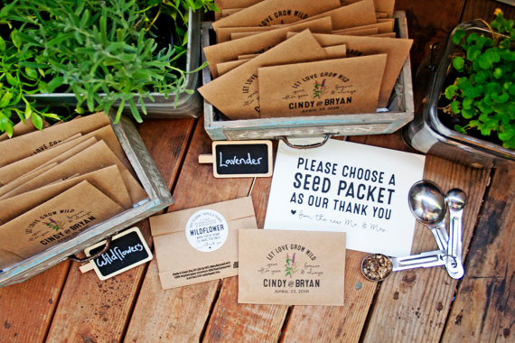 seed packet favors by mavora