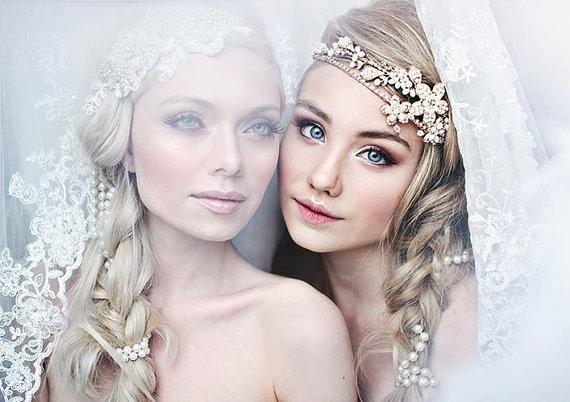 shimmering tiara bridal headband