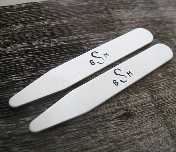 shirt collar stays custom-stamped (by julie the fish designs)