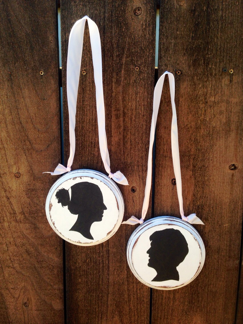 silhouette bride and groom chairs | via bride and groom chair signs https://emmalinebride.com/decor/bride-and-groom-chairs/