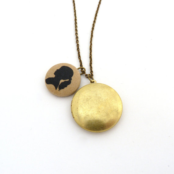 silhouette locket
