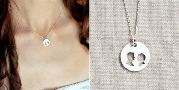 silhouette necklace