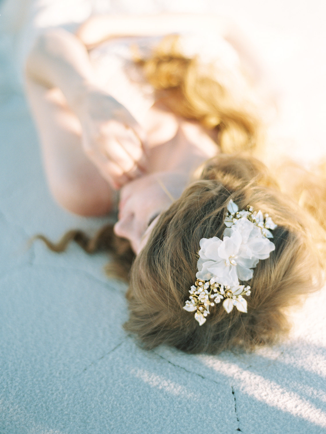 silk flower bridal headpiece