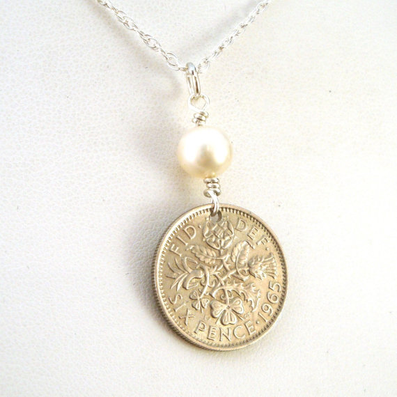 sixpence coin necklace