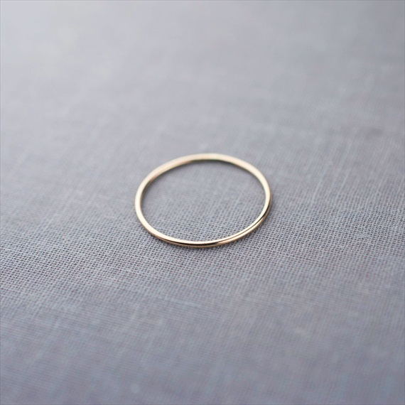 Recycled Wedding Rings: skinny wedding band 1mm
