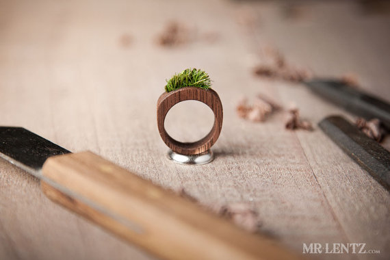 smaller grass wood ring