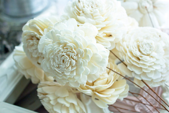 Faux Flower Bouquets (bouquet: la farm girl mercantile)