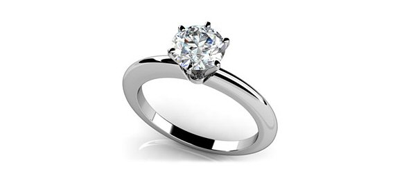 8 Tips for Popping the Question - solitaire engagement ring white gold