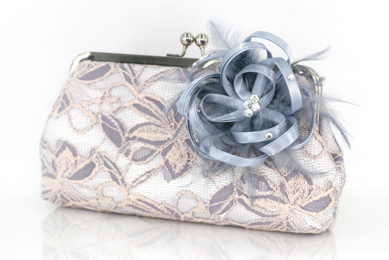 something blue clutch bag