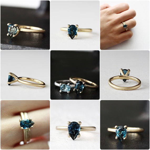 something blue engagement ring option