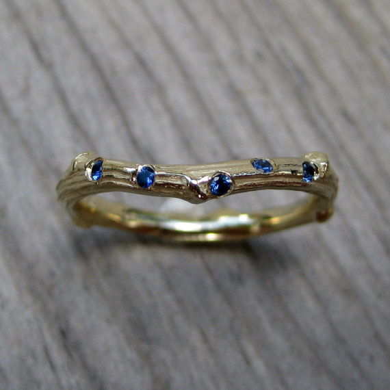 something blue wedding band | handmade wedding bands | http://emmalinebride.com/jewelry/handmade-wedding-bands/