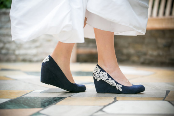 something blue wedding wedges