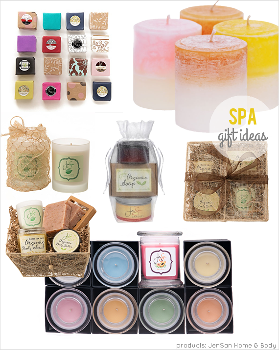 How Much to Spend on Wedding Party Gifts by EmmalineBride.com - spa gifts for bridesmaids (by JenSan Home and Body)