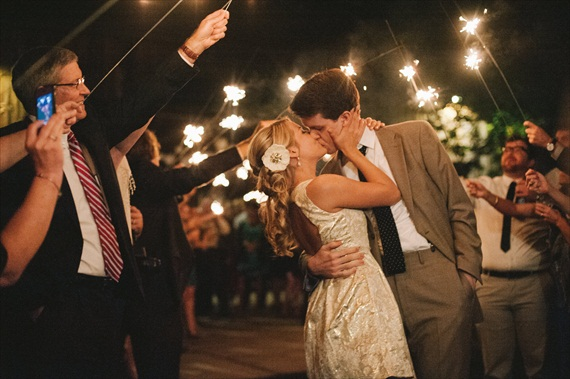 7 Wedding Sparkler Mistakes to Avoid via EmmalineBride.com - image by michelle gardella