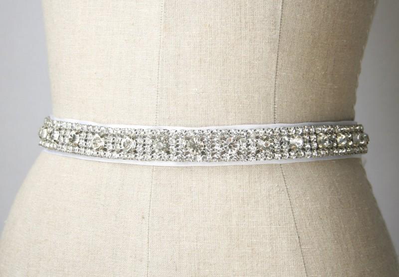 sparkly crystal wedding dress sash | NEW Wedding Dress Sash Ideas via http://emmalinebride.com/bride/wedding-dress-sash-ideas/
