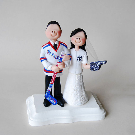 Unique Cake Topper - sports fans cake topper