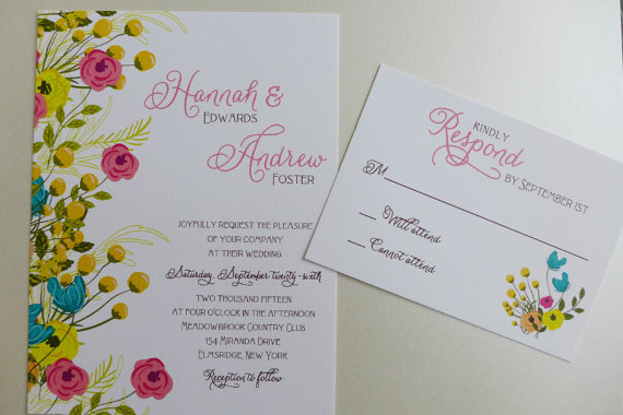 spring via 6 Colorful Wedding Invitations with Florals