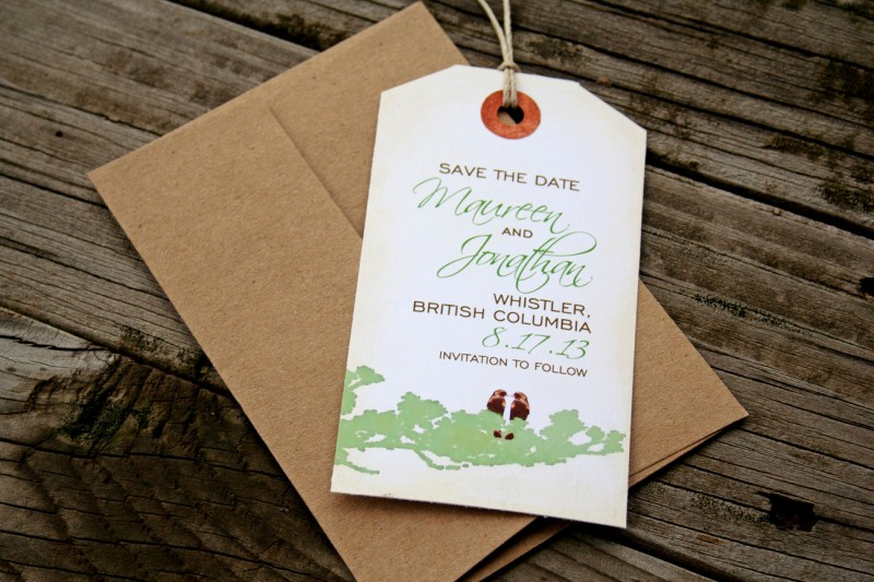 Luggage Tag Save the Dates by Mavora via EmmalineBride.com