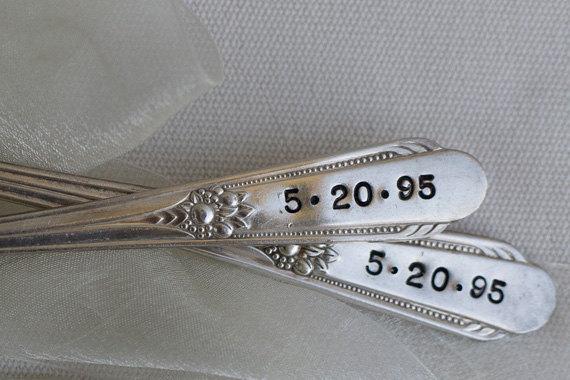Vintage Wedding Silverware (by Wooden Hive) via EmmalineBride.com