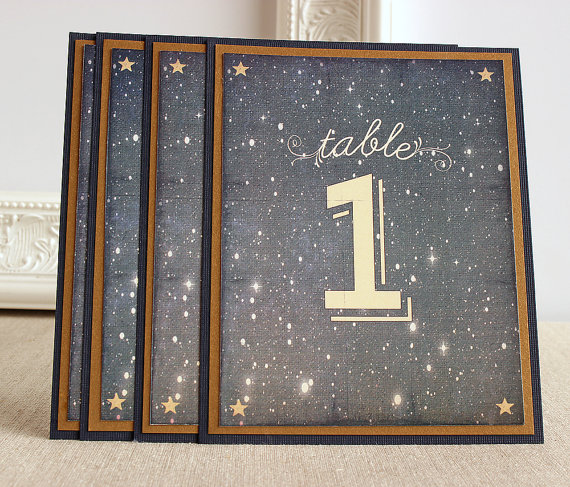 starry night table numbers by SunshineandRavioli | via Starry Night Weddings http://emmalinebride.com/vintage/starry-night-weddings-ideas/