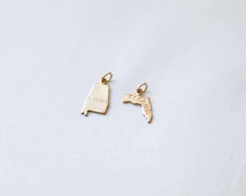 state charm | http://emmalinebride.com/gifts/bridesmaid-bangle-bracelets/