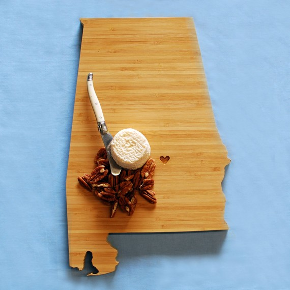 state themed wedding cutting board
