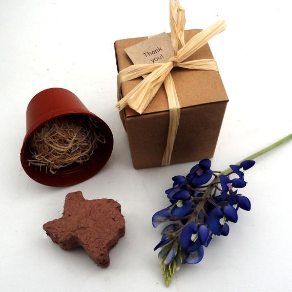 state themed wedding seed favors