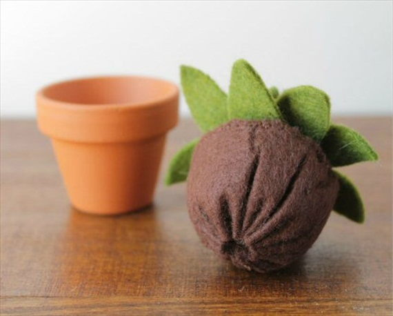 succulent made of felt (by ordinary mommy)