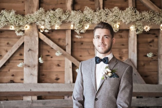 groom attire for barn wedding