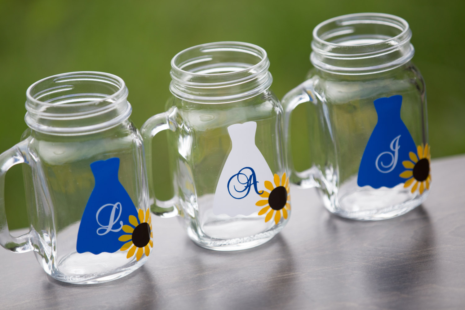 sunflower mason jar mugs by waterfalldesigns