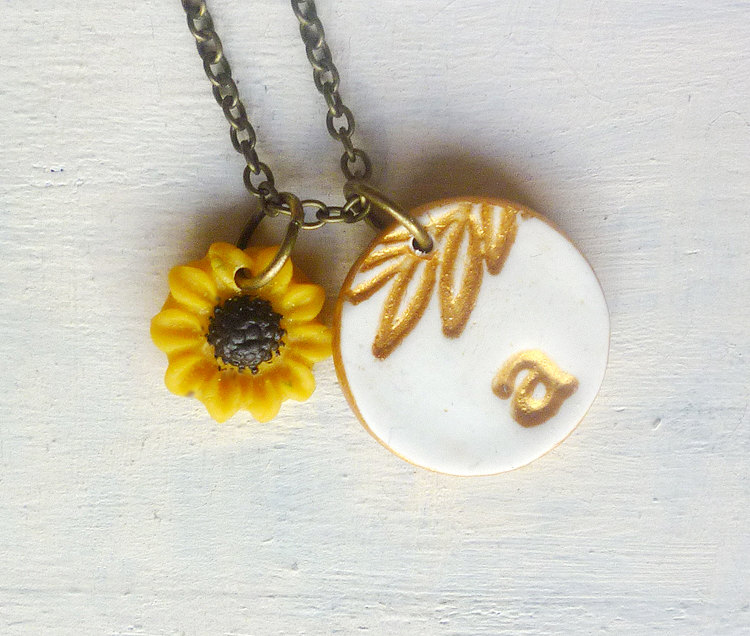 sunflower necklace by palomaria
