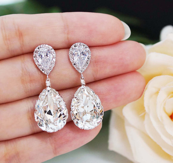 swarovski bridal jewelry - earrings