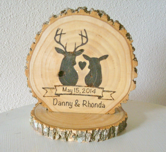 sweet home woods rustic cake topper