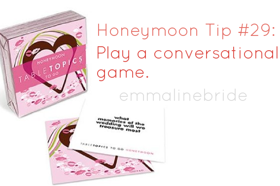 50 Best Honeymoon Tips: #29 Ask each other fascinating questions (via EmmalineBride.com)