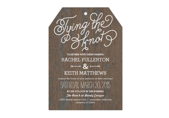 tag shaped wedding invitation via uniquely shaped wedding invitations