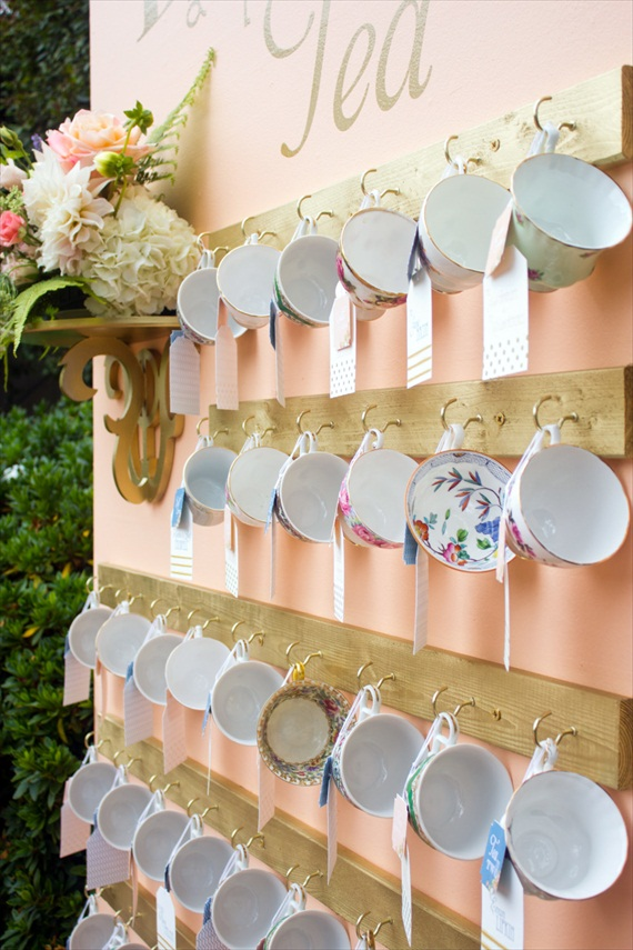 Teacup Escort Card Favors (photo: irish grzanich)
