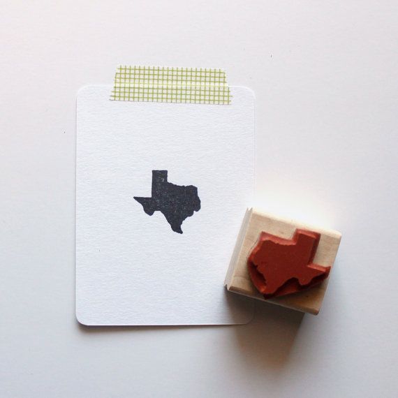 texas state rubber stamp