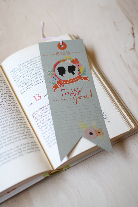 Thank You Card Bookmark by Yes, Dear Studio (via The Marketplace at EmmalineBride.com)