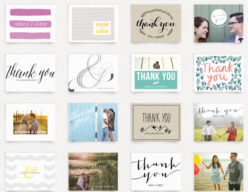 thank you cards from postable