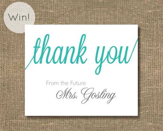 Planning a Bridal Shower (via EmmalineBride.com) - Thank You Cards by Rock Candie Designs