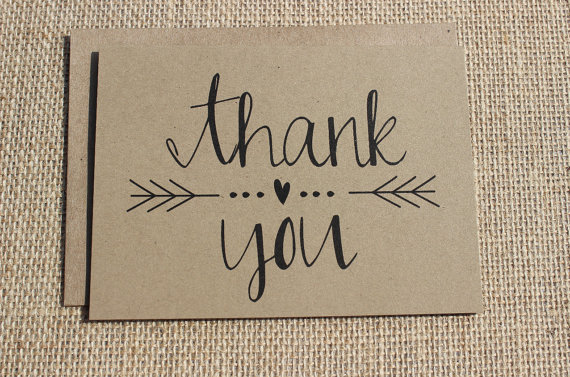 How to Write a Thank You for Cash Gift (cards: ponto mountain paper)